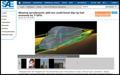 Glowing aerodynamic add-ons could boost big-rig fuel economy by 7-10%