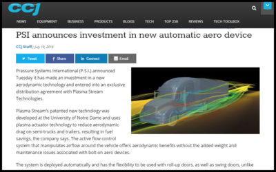 PSI announces investment in new automatic aero device –  Plasma Stream