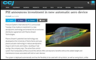 PSI announces investment in new automatic aero device –  Plasma Stream