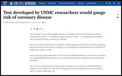 Test developed by UNMC researchers would gauge risk of coronary disease