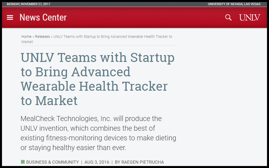 MealCheck Technologies, Inc., in the News