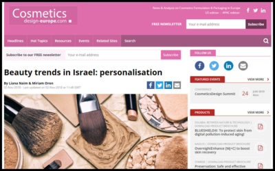 Beauty trends in Israel: personalisation