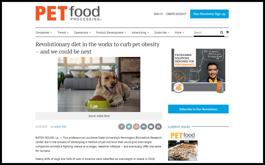 Revolutionary diet in the works to curb pet obesity – and we could be next